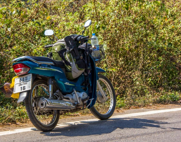 My ride for the loop. The onda Dream 125cc - The Asian Classic.