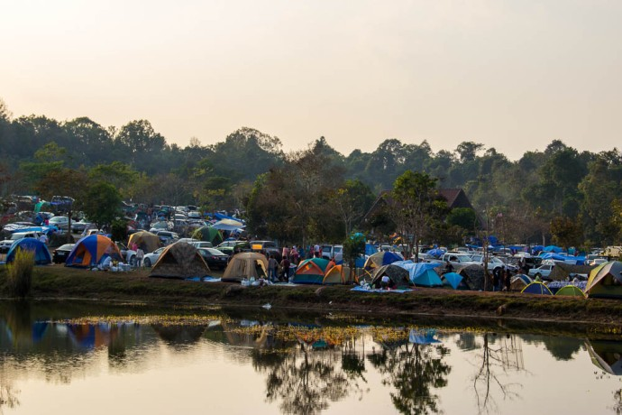 Camping the Thai way. Looks more like a rock festival.