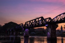 The bridge over the river Kwai. By the way: It's pronounced Kwae.