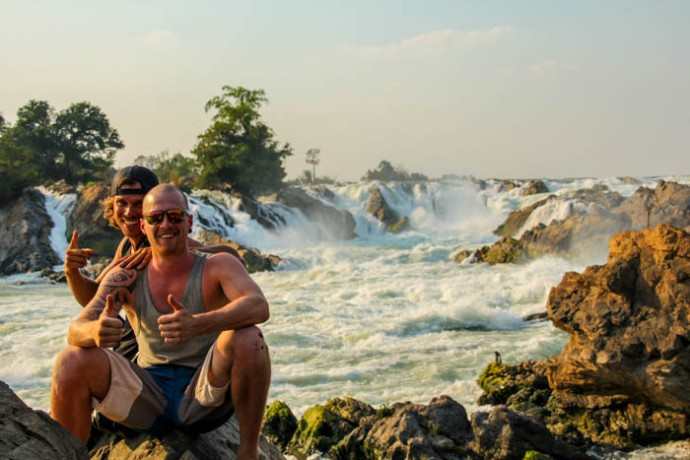Posing at the Southeast Asia's biggest waterfall.