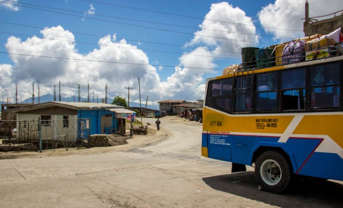 On the way to Sagada through the Cordillera Mountains.