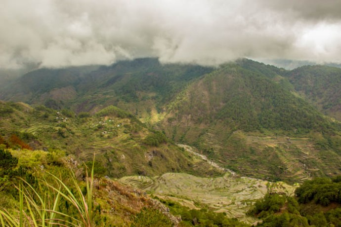 Kiltepan Rice Terraces from the Viewpoint.