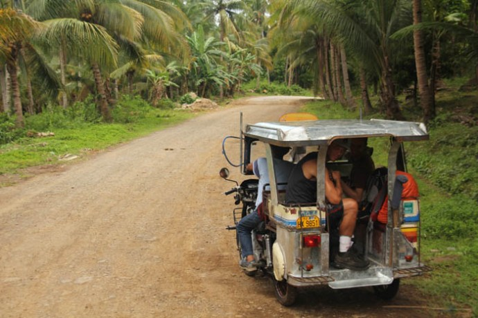 Making our way through the backroads of Biliran.