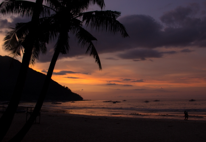 Romantic atmosphere on Sabang Beach ;)