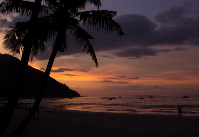 Romantic atmosphere on Sabang Beach ;)
