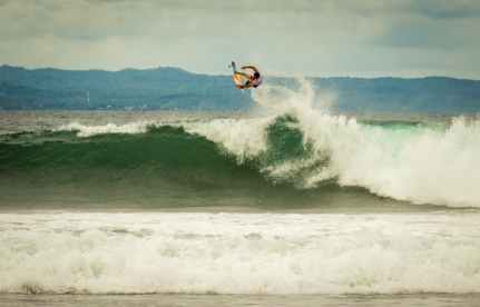 Joel Parkinson with a huge air.