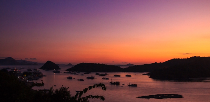 Dusk over Labuan Bajo Bay.
