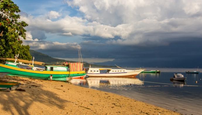 Dusk at Bunaken, North Sulawesi.