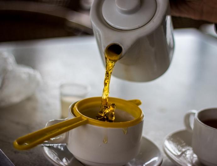 Sampling that premium tea of the Cameron Highlands. Good stuff...