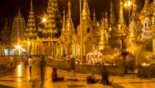 The Shwedagon Pagoda by night. Just magical...
