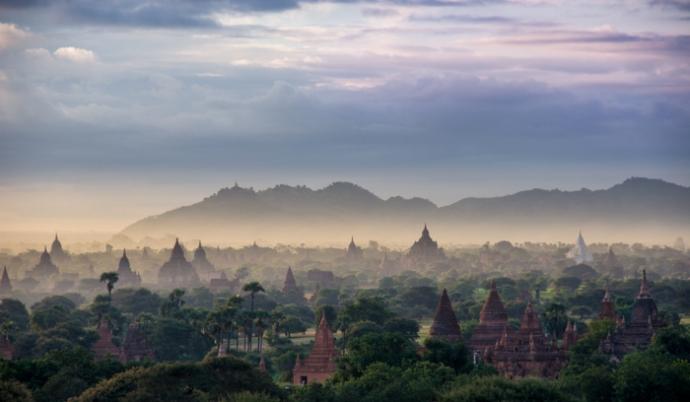 Dawn in Bagan.