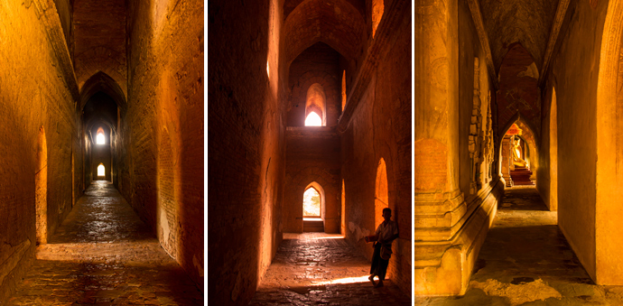 Inside the temples of Bagan...