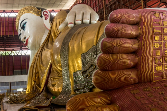 Another spiritual site, the reclining buddha.
