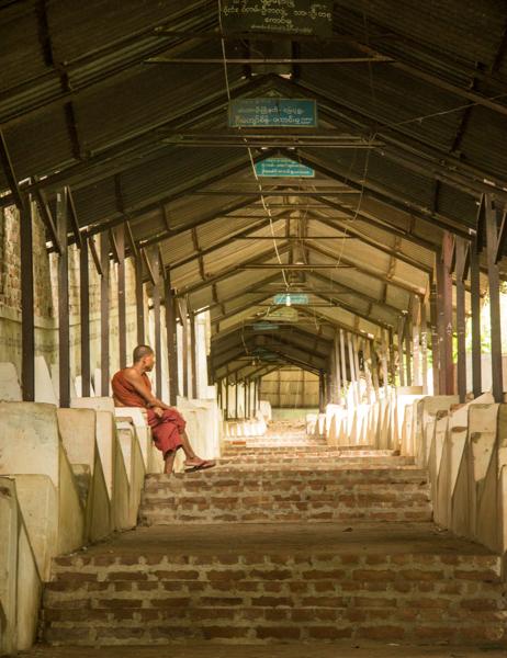 Lone monk.