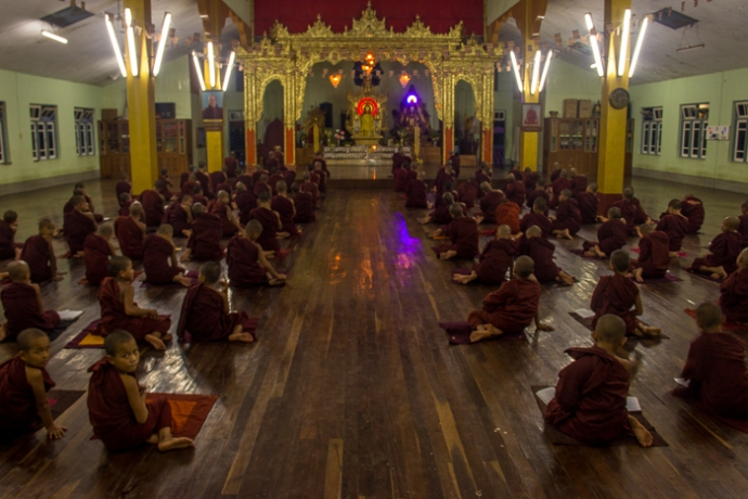 Chanting in the monastery