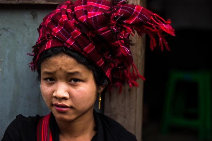 A young Burmese vendor.
