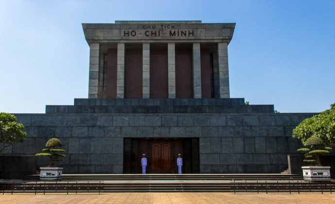 The mighty Ho Chi Minh Mausoleum