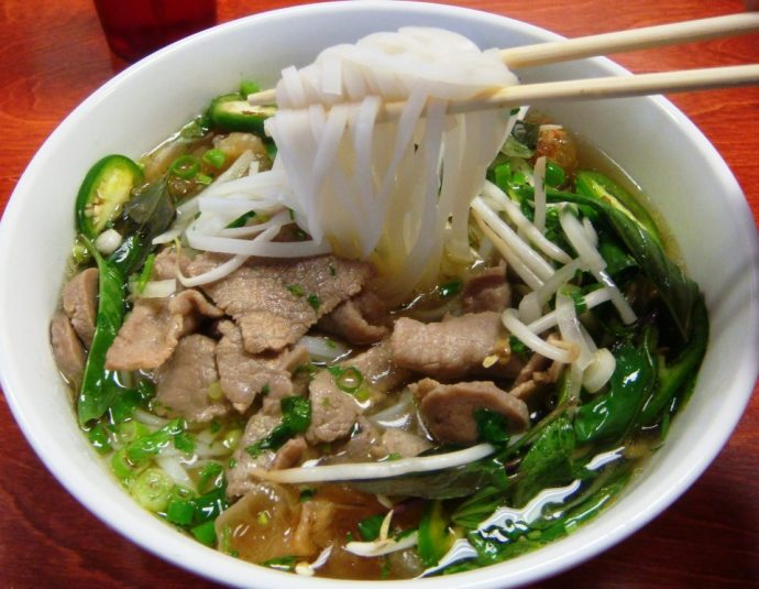 A nice bowl of hot Pho Bo in Hanoi