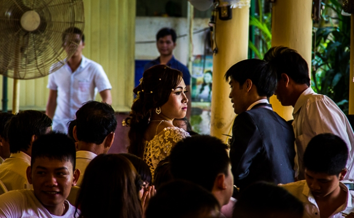 At a wedding in Hue, Vietnam
