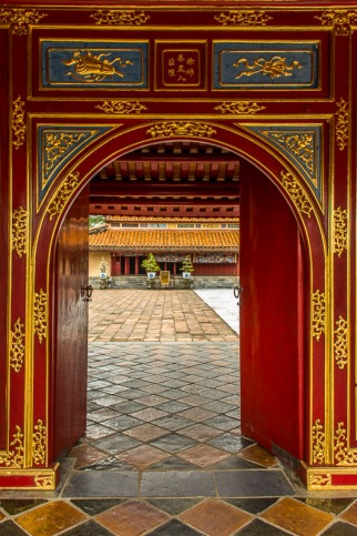 Gate at imperial citadel, Hue, Vietnam