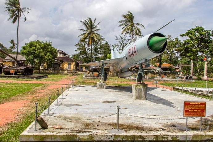 An old war plane in Hue, Vietnam