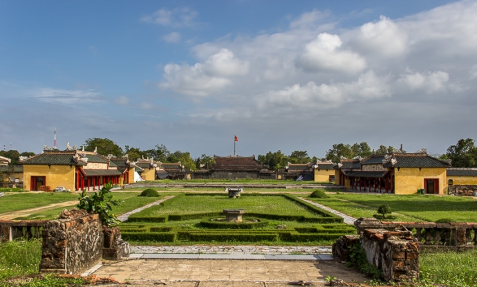 Courtyard at imperial citadel, Hue, Vietnam