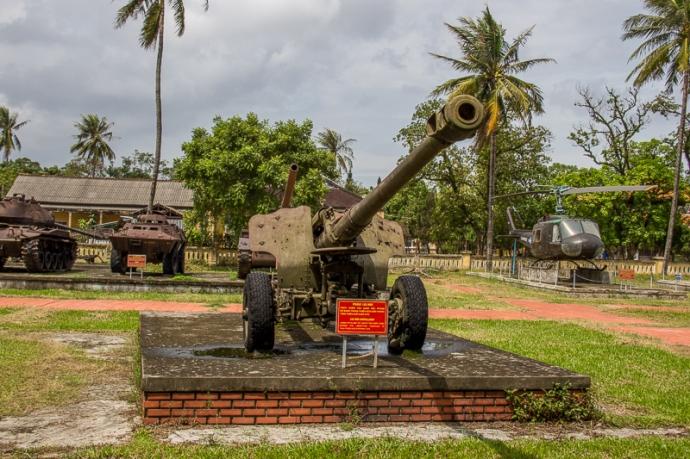 War remnants in Hue, Vietnam