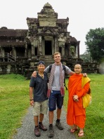 Angkor Wat and Buddhist Monk
