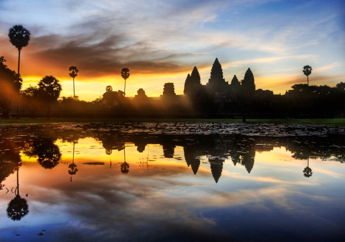 Angkor Wat in all its Beauty at Sunrise