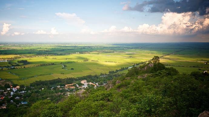 View from Sam Mountain, Chau Doc