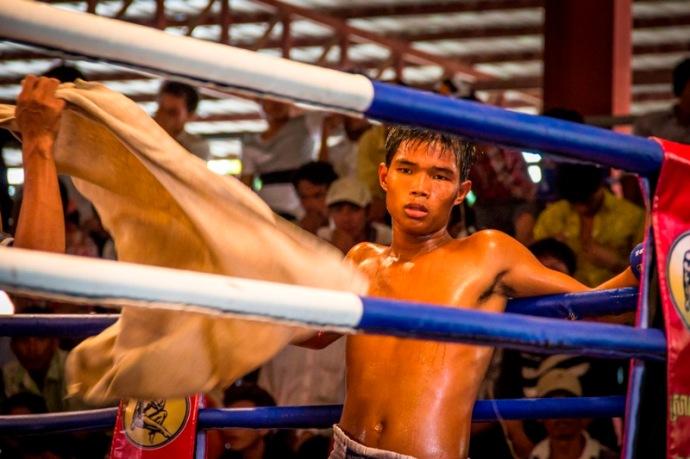 Cambodian Boxer in Phnom Penh