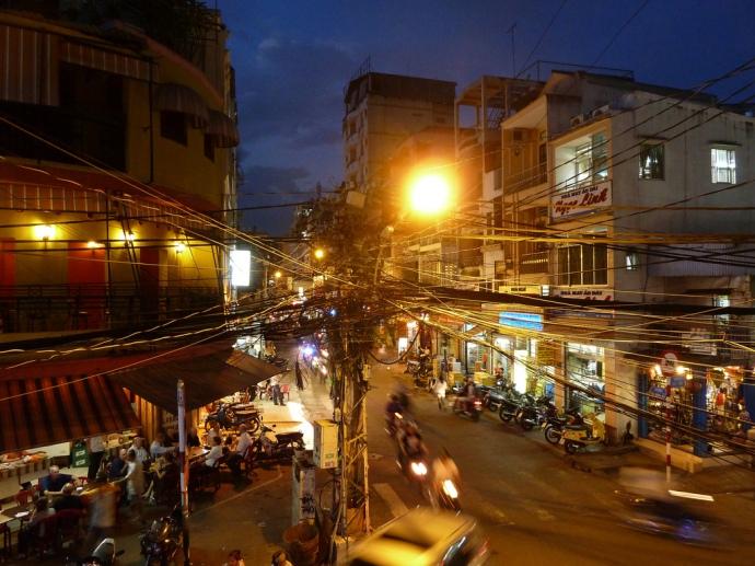Night scene Saigon / Ho Chi Minh City