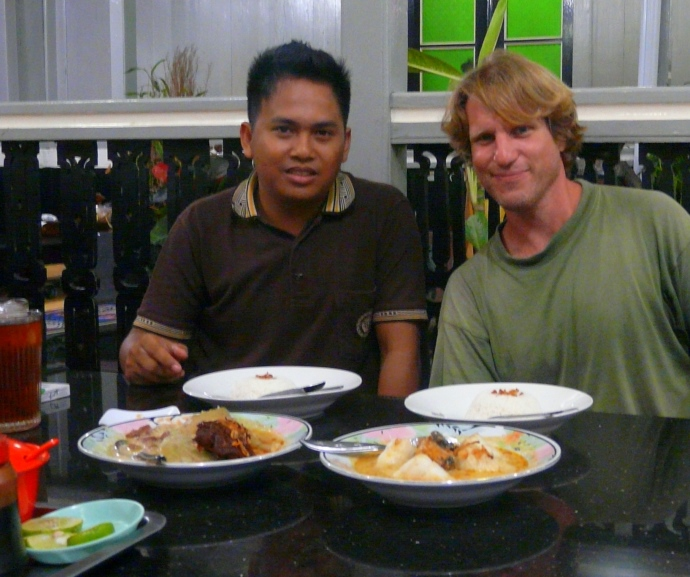 Dinner invitation by a local in Kalimantan, Indonesia.