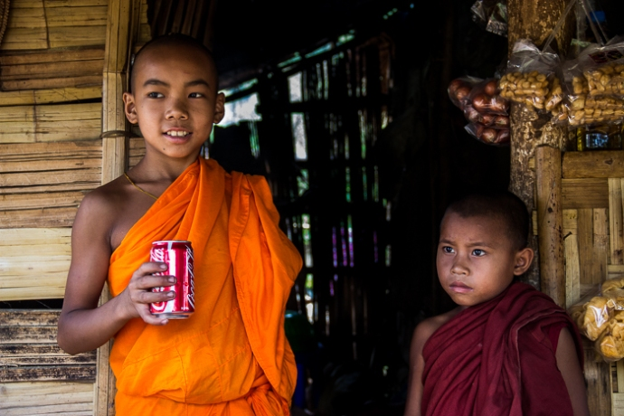 Little Monks with Coca Cola