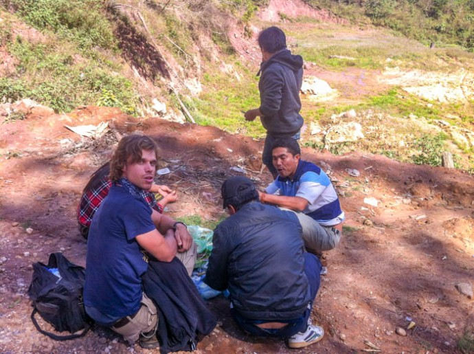 Lunch break Phongsaly, Laos