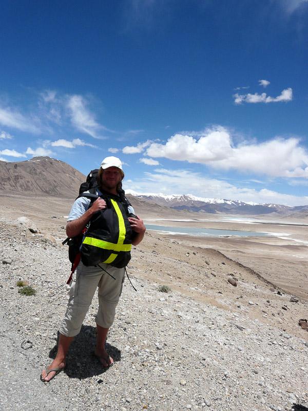 Traveler Portrait-Walking down Pamir Highway