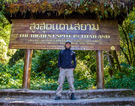 By motorbike up to the highest point of Thailand