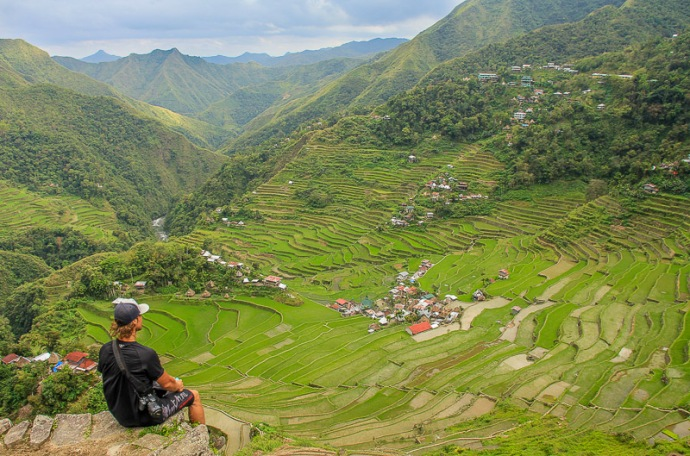 Serenity up in Batad, Philippines.