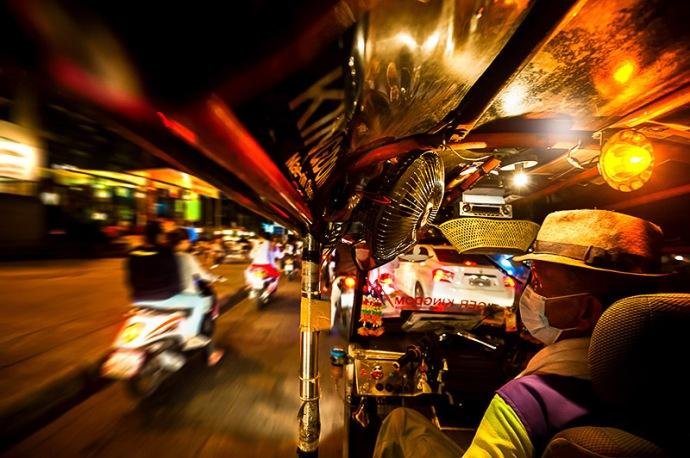 Thailand-Tuk Tuk Night Ride, Chiang Mai