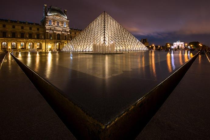 France-Louvre at Night, Paris