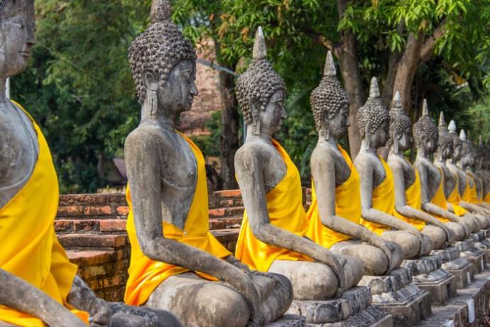 Ayuttaya Thailand Budhas